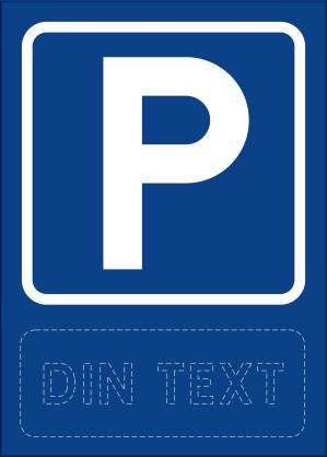 Skylt stående, parkering med egen text