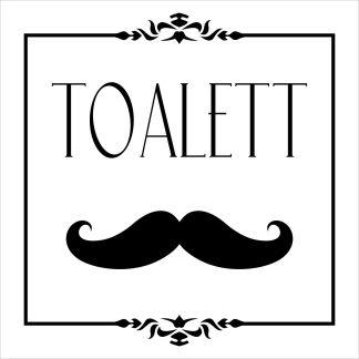 Skylt, WC Toalett, vit, piktogram, herr