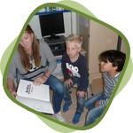daltonschool_Het_Palet_Groep_8b_voorlezen aan groep 1-2-1
