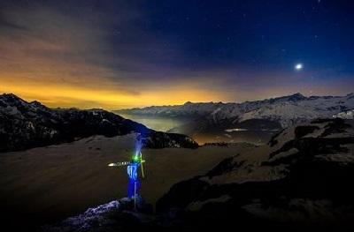 Sci alpinismo in notturna (Foto Campiglio Ski Team)