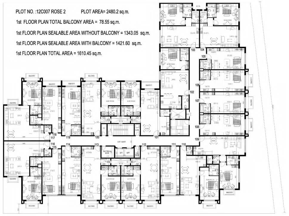 Emirates Gardens By Damac Floor Plan