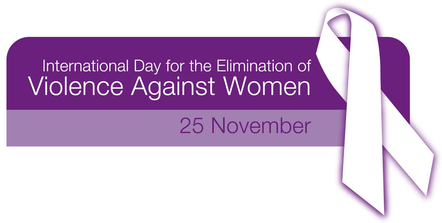 International day for the elimination of violence against women November 25 logo