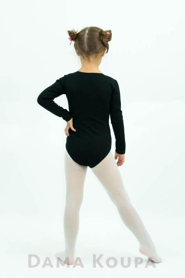 Μαύρο παιδικό κορμάκι χορού