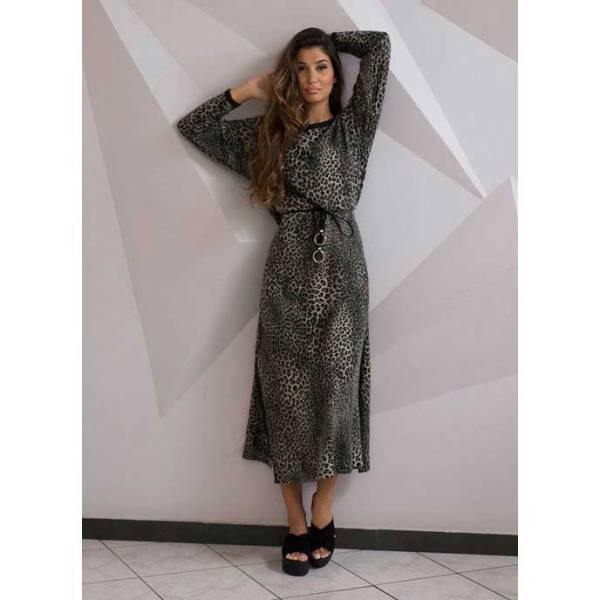 Maxi φόρεμα λεοπάρ