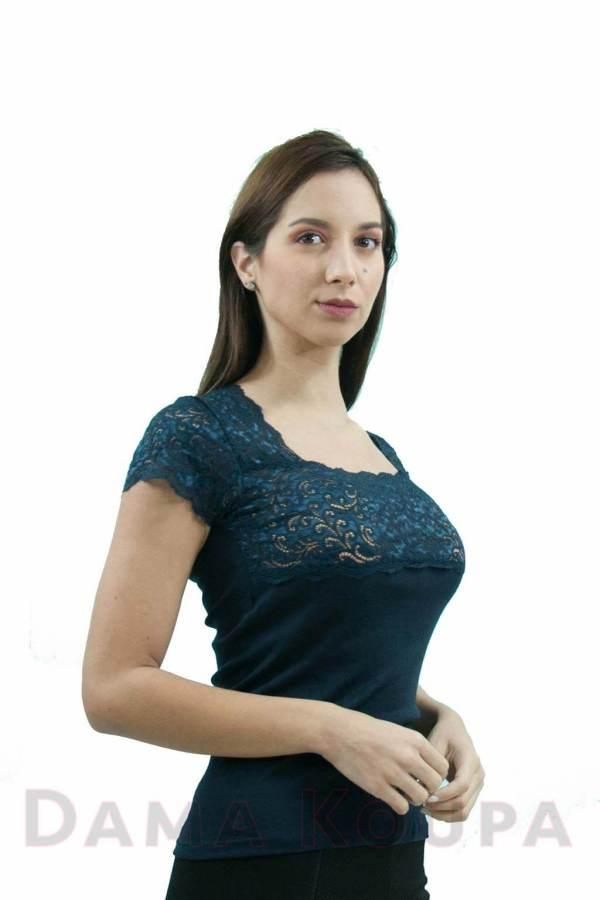 Μπλούζα γυναικέια μπλε με δανδέλα