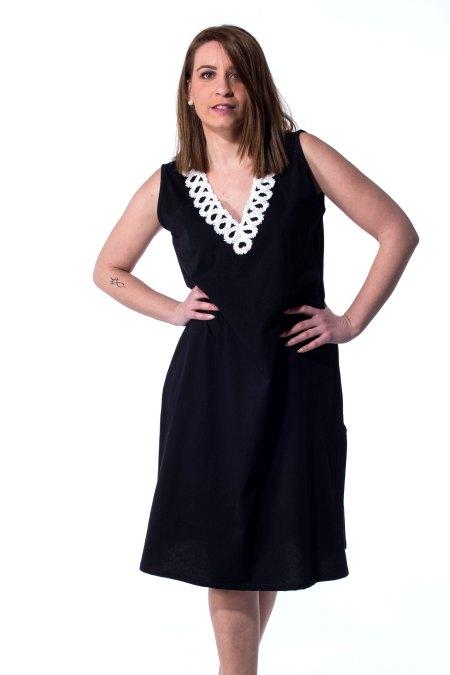 Μαύρο φόρεμα βαμβακερό