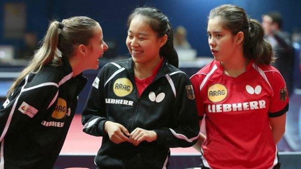 Laura Tiefenbrunner, Wenna Tu und Franziska Schreiner  | Damen Tischtennis-Bundesliga