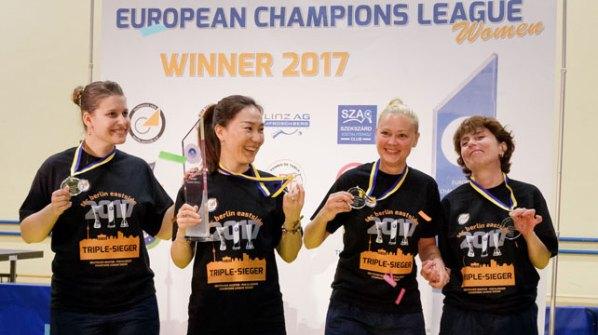 Champions-League Sieger 2017 - ttc berlin eastside | Damen Tischtennis-Bundesliga