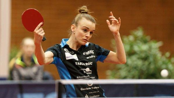 LOTTO Final-Four 2018: Sarah DeNutte, TuS Bad Driburg | Damen Tischtennis-Bundesliga © Holger Straede