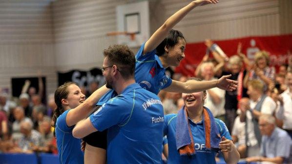 Jubel beim Deutsche Meister SV DJK Kolbermoor | Damen Tischtennis-Bundesliga