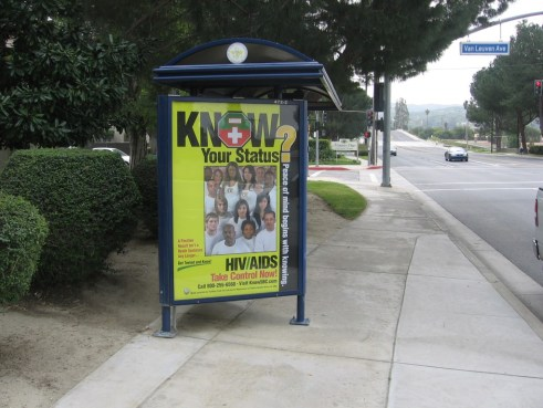 HIV/AIDS Bus Shelter