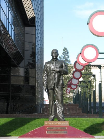 After the Breakfast the celebration will reconvene at The Dr. Martin Luther King Statue at San Bernardino City Hall at 300 North D Street, at approximately 10:15 am.  photo by Carl Dameron