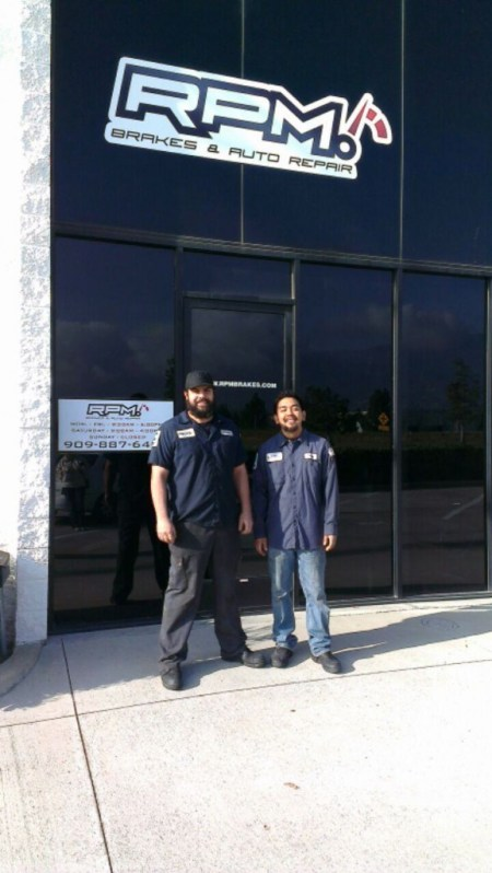 The grand opening for the new RPM Brakes & Auto Repair is February 21 at 10 AM at 4370 Hallmark Parkway, Suite 104, San Bernardino.  The public is invited to attend the grand opening and celebrate with Jorge Beyer left, and Dustin Bernhardt right.
