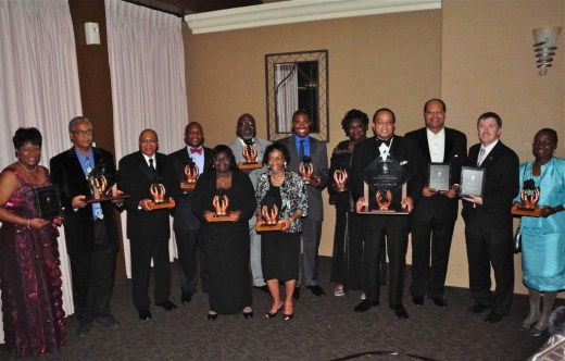 Photo caption:  Honoring some of the unsung heroes who have worked diligently to improve the lives of others throughout the Inland Empire, The Black Cultural Foundation awarded the 2011 Black Rose Award to the following award community advocates: (back row left to right) Juanita Dawson, James Butts, Jimmie Brown, Herb English Jr., John Futch, Mark Campbell, Vicki Lee, Carl Dameron, Timothy Evans from The Unforgettables Foundation, Dr. Queen Hamilton, (left to right front row) Geraldine Reaves, Jennifer Vaughn-Blakely and Dr. Harold Cebrun. Photo by Chris Sloan.