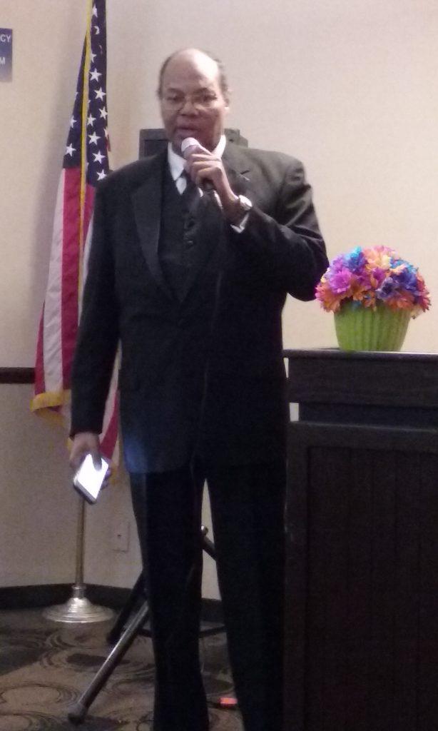 Carl Dameron at a recent award ceremony.