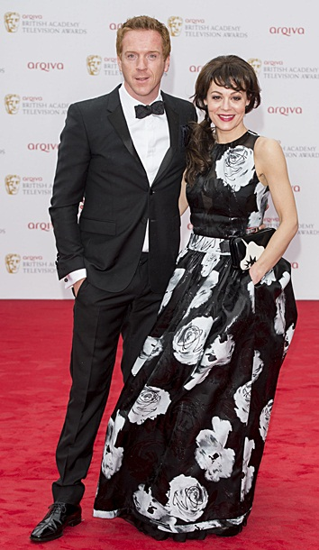 Damian Lewis and Helen McCrory arriving at the BAFTA TV Awards