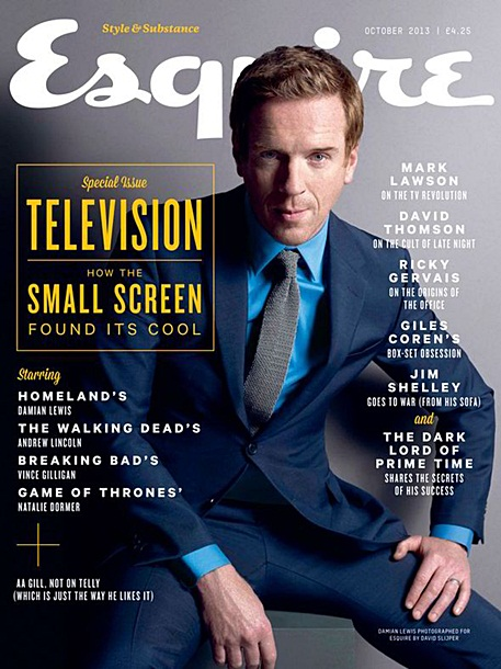 Damian Lewis in Esquire's UK October 'Television Special' issue