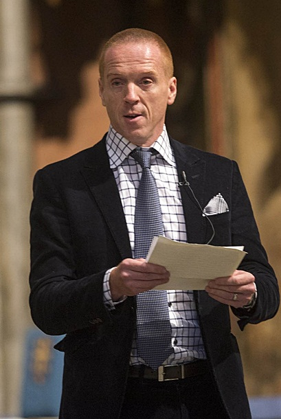 Damian Lewis at the Harvest Festival on Wednesday