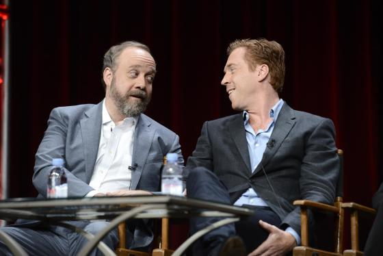 Paul Giamatti and Damian Lewis seen at Showtime's 2015 Summer TCA held at The Beverly Hilton on Tuesday, August 11, 2015, in Beverly Hills. (Photo by Dan Steinberg/Invision for Showtime/AP Images)