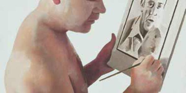 Triple retrato 2003 Óleo sobre madera 44 x 37 cm