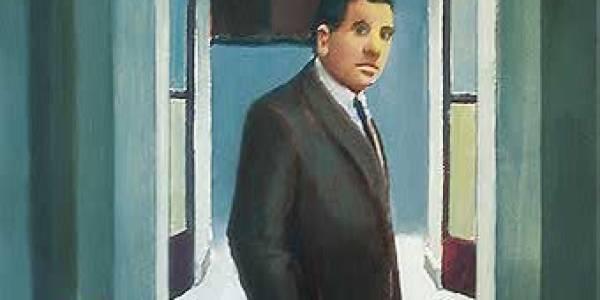 Juan Gris en la Academia 1997 Óleo sobre cartón 30 x 20 cm
