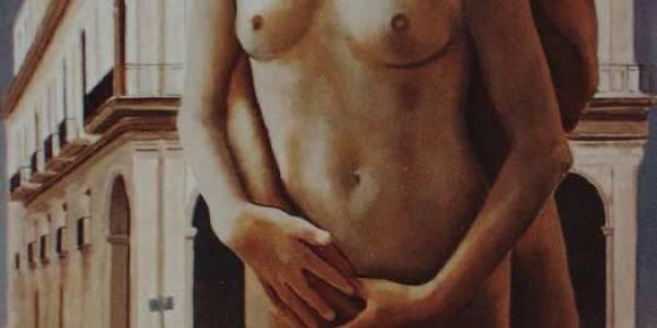 Desnuda en La Habana 39 x 39 Cm