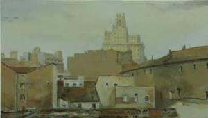 Noviembre, 1936, 2010, óleo/lienzo, 35x61 cm.