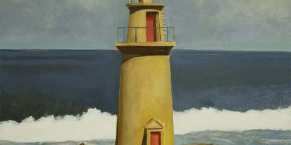 Faro. Óleo/madera. 35 x 34 cm