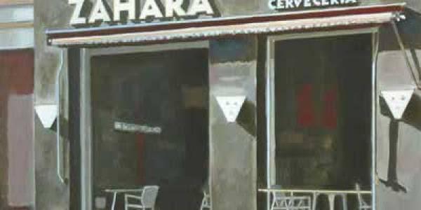 Café Zahara. 2008. Óleo/lienzo. 41×50 cm.