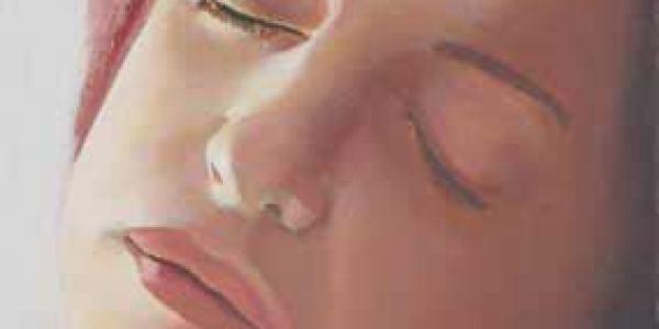 Retrato durmiente: Arantza 2003 Óleo sobre madera 27 x 17 cm