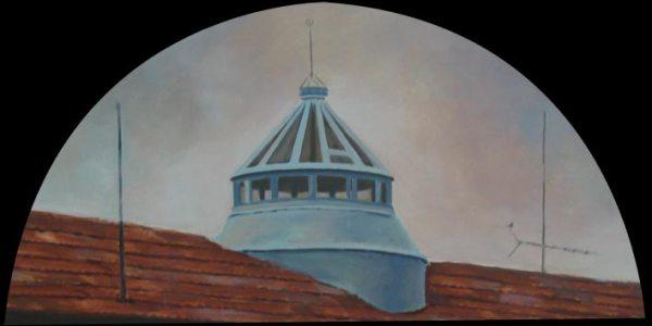 Clarabóia. Óleo/madera. 25×50 cm