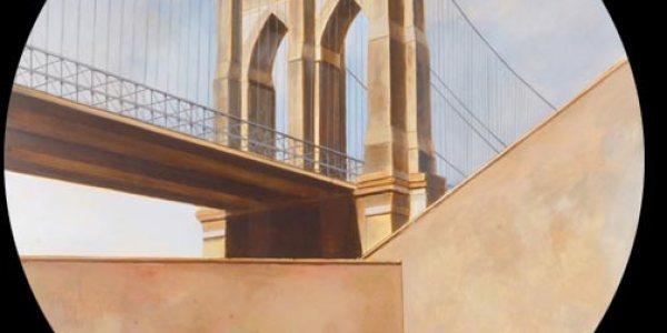 Puente de Brooklin. 2007. Óleo/madera. 75 x 75 cm