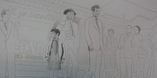 Mi tío Jacinto. 2007. Grafito sobre papel. 32×44 cm.