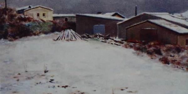 Nieve en Campezo (30 x 40 cms)
