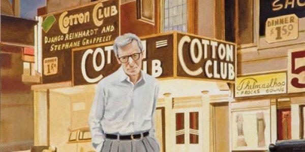 Woody Allen. 2007. Óleo/madera. 29 x 52 cm