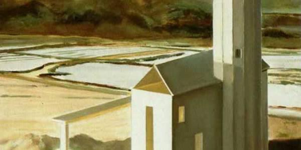 La casa del salinero. 2004. Óleo sobre madera. 40 x 40 cm