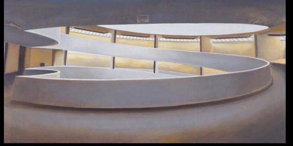 Rampa del Museo Guggenheim. 2007. Óleo/madera. 50 x 97 cm