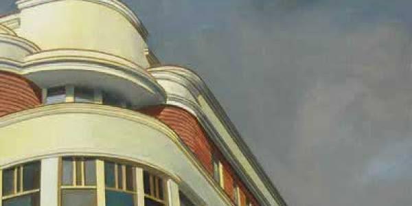 Cine Europa. 2008. Óleo/lienzo. 41×65 cm.