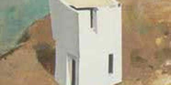 Casa R. Velasco. 2003. Óleo sobre madera. 40 x 15 cm