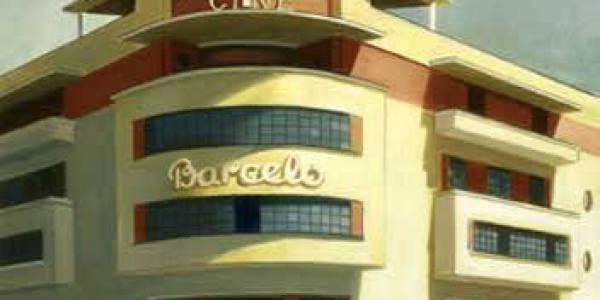 Cine Barceló. 2005. Óleo sobre tabla. 65 x 52 cm.
