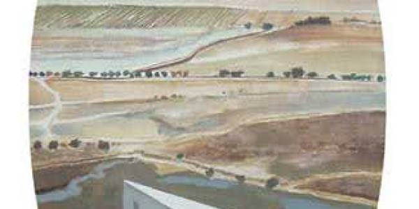 Pabellón Schlichter. 2003. Óleo sobre madera. 49 x 29 cm