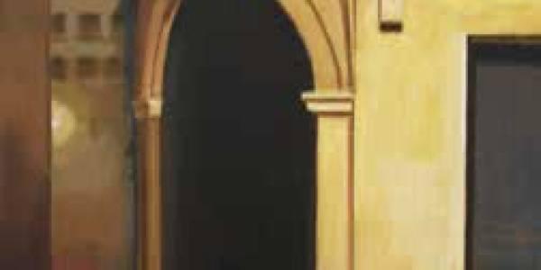 La esquina de Rafael Sánchez, 2010, óleo/lienzo, 55×34 cm.
