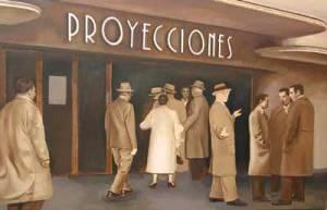 El cine Proyecciones. 2008. Óleo/lienzo. 130x200 cm.