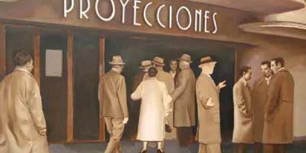El cine Proyecciones. 2008. Óleo/lienzo. 130×200 cm.