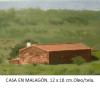 Casa en Malagón Damian Flores 2014 oleo sobre tela 12 x 18 cms.