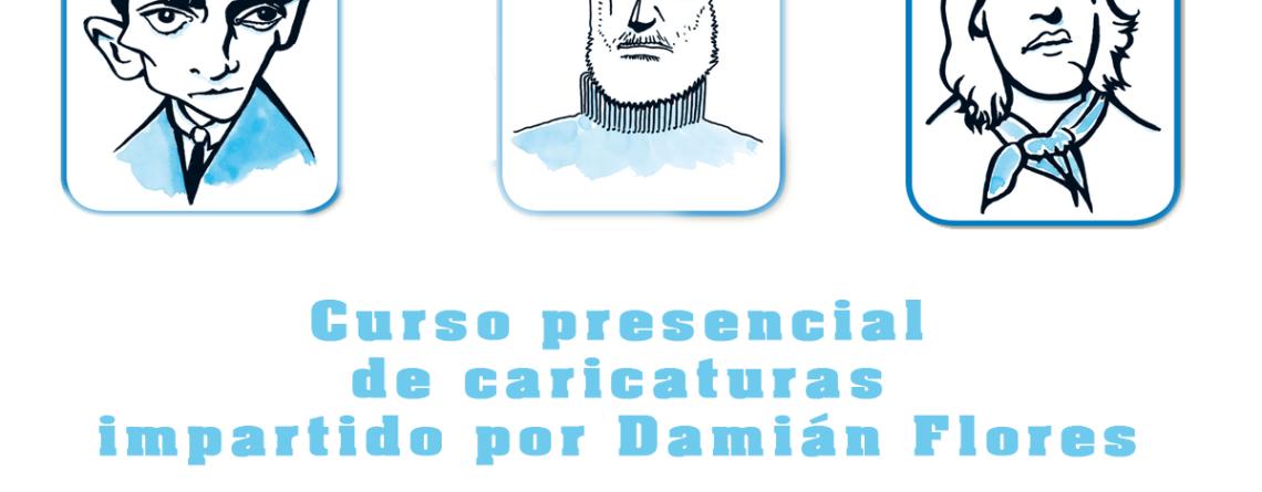 Curso presencial de caricaturas impartido por Damián Flores