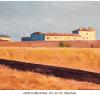 Casa Cubillanas Damian Flores Oleo sobre tela 16 x 22 cms.