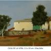 Casa de la vera Damian Flores 2014 Oleo sobre tela 13 x 18 cm