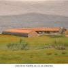 Casa en La Pizarra Damian Flores 2014 oleo sobre tela 16 x 22 cms
