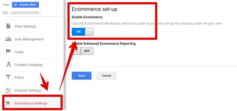 Google Analytics konfiguracja modułu ecommerce